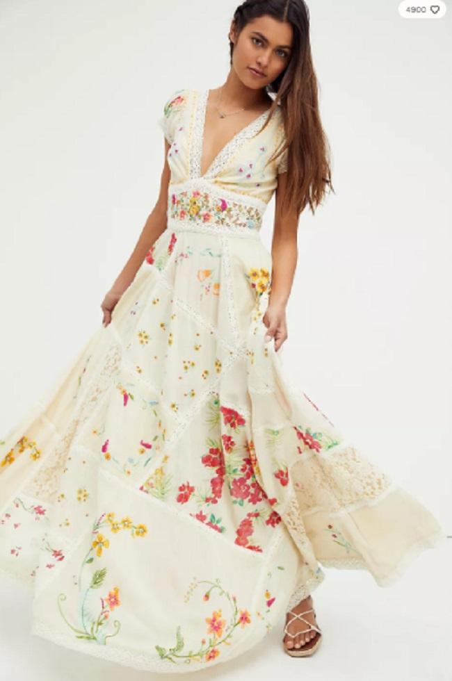 Free Peopleのウェディングドレスの例1