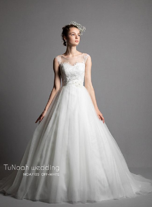 チュノアウエディング ドレスの例1