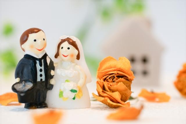 オレンジをテーマカラーにした結婚式